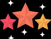 Image étoiles -Passion, engagement et travail